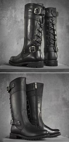 41294ab32b210b Harley-Davidson Abner. See more. Awesome Lace Up Boots in Black! They re  stunning!! Leather Motorcycle Boots