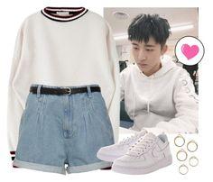 B.I (김한빈) Kim Han Bin (iKON) by evil-maknae on Polyvore featuring polyvore fashion style NIKE clothing