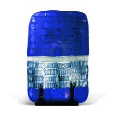 Stèle bleue (verre soufflé fusionné) - © Atelier Lise Gonthier