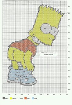 """BART SIMPSON """"FULL MOON"""" WALL HANGING by CREATIVECANVASCRAFTS.COM"""