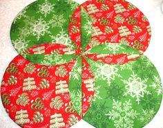 Christmas Table Runner Quilt  Xmas Table Topper by KeriQuilts