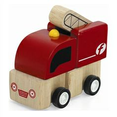 Little wooden toy vehicles