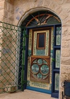 Door in Zefat, Israel.