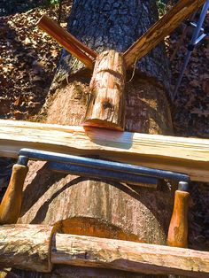 "Make A Stump Vise For ""smoothing It"" Camp Projects"