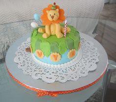 Lion+1st+Birthday+Cake+-+The+Finished+Lion+Cake