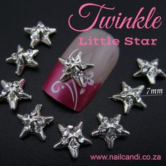 """""""Starring Over"""" Nail Art charm available on our website www.nailcandi.co.za  The ONLY reusable nail art available!  #3DNailArt #NailArtCharms"""
