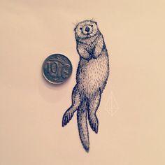 Ideas Of Cool Geometric Tattos Trendy Tattoos, Cute Tattoos, Body Art Tattoos, Tattoo Drawings, Tatoos, Otter Tattoo, Moose Tattoo, Tattoo Soeur, Alaska Tattoo