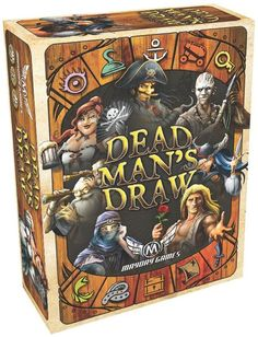 Dead Man's Draw is a simple and strategic card game of risk and reward for 2 to 4 players. Players take turns drawing cards and combining their special abilities to plunder the most loot without busting their entire hands.  The core of your turn in Dead Man's Draw is all in the flip: pulling the top card off the deck and using its special ability. Your turn isn't over until you say it is, though. You can keep pulling cards as long as you like – until you play...