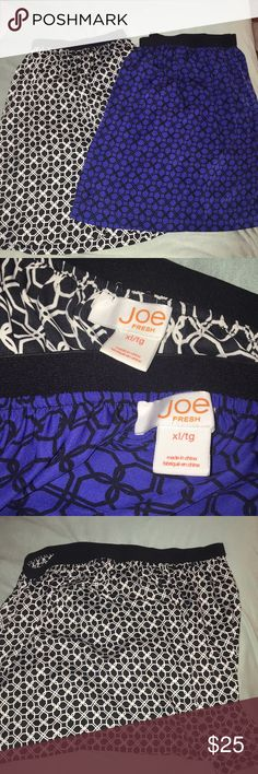 Flowy print skirts In perfect condition! A great piece for spring! 🌸 Joe Fresh Skirts