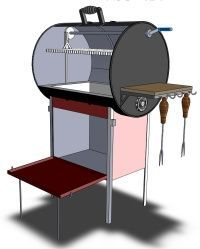 55 gallon stainless steel drum smoker using one of out new - Como construir una parrilla ...