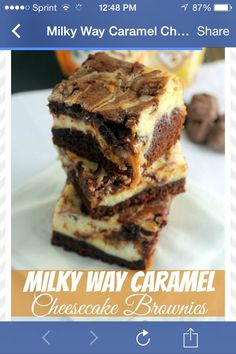Milky Way Caramel Cheesecake Brownies