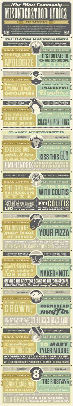 The Most Commonly Misunderstood Lyrics in Music