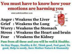 Hate: Stores in the pancreas and can lead to cancer. LET GO of the hate...it's only hurting you!
