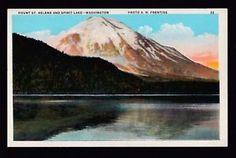 Image result for mt st helens vintage postcards Snoqualmie Falls, Vintage Postcards, Mount Rainier, Washington, Mountains, Nature, Travel, Image, Viajes
