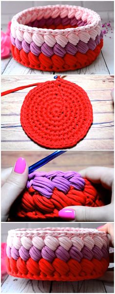 Basket Of Crochet Knitting Yarn