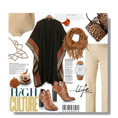 Hijab by sans-moderation on Polyvore featuring Tory Burch, NOVICA, Dsquared2, Miss Selfridge, Yves Saint Laurent, Chicnova Fashion, Georg Jensen, booties, brown and hijab