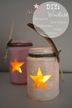 Today I show you how fast you make a fast lantern … – Diy Fall Decor - Geburtstag Christmas Time, Christmas Crafts, Christmas Decorations, Fall Crafts, Diy And Crafts, Diy Presents, Mason Jar Crafts, Yule, Diy For Kids