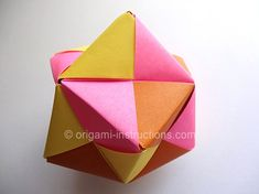 Origami Instructions: Modular Sonobe Octahedral Unit