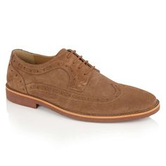 ddc6cac1e08de Silver Street London Lombard Tan Suede Brogue Shoes Suede Leather, Brogues,  Oxford Shoes,