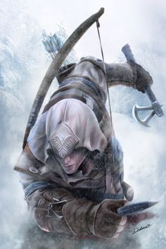 Fan art do Connor (Assassin's Creed III) Assasin Creed Unity, Arte Assassins Creed, Assasins Cred, Assassin's Creed Videos, Assassin's Creed Wallpaper, Connor Kenway, All Assassin's Creed, Video Game Characters, Epic Characters