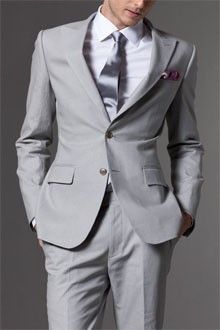 Light Grey Suits on Pinterest | Purple Ties, Men Wedding Suits and ...