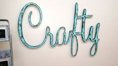 This is a listing for a handmade Sign Crafty. It is cut out of mdf board and then painted an aqua color and finished with a special paint mix to give it an aged look. This is a nice accent piece to add to a shabby chic kitchen, dining room, or a rustic home. Great gift for anyone who loves the distressed look. Would also make a great photo prop! The other two photos are just to give you more ideas!    The one in the photo is AQUA and is distressed.    ****When you checkout please let me know…
