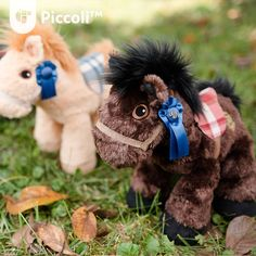 Red Plaid Brown Horses - limited for our Early Supporters Piccoli Horses are plush toys loved by kids of all ages. It serves as a tangible learning facilitator for your child when paired with our Piccoli apps!  #toy #children #kids #cuddly #cute #plushtoy #horse #piccoli #piccolihorses #usa #kentucky #tech #education