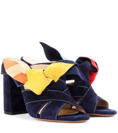 f031be7dc37 Chloé - Nellie suede mules - These charming mules from Chloé are crafted  from dark blue