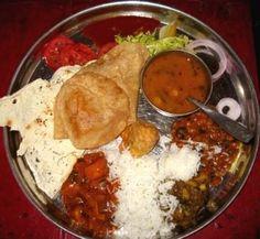 Le thali, le plat le plus courant en Inde.