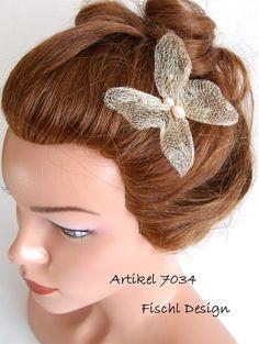 7034  Hochzeit Haarnadel Schmetterling Gold von FischlDesign, €19.00