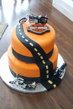 torta para cumpleaños de motoqueros