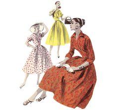 1950s Womens Wrap Dress - Butterick 7717 Vintage Pattern - Bust 36 UNCUT FF. $28.00, via Etsy. WHITE AND RED POLKA DOT DRESS - FABULOUS!!