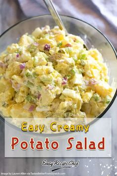 This creamy Potato Salad with Carrots and Pineapple is super easy to make and delicious. This potato salad will be a great side dish with meat dishes. Appetizer Recipes, Salad Recipes, Easter Recipes, Appetizers, Easy Weeknight Meals, Quick Easy Meals, Creamy Potato Salad, Homemade Mayonnaise, Baked Chicken