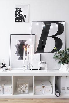 Amazing white vignette on Ikea 'Expedit/Lack' shelf