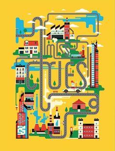 @blindsalida Harvard Business Review, Independent School, Urban Life, Modern Man, Illustration, Life Is Good, Money, Work Inspiration, Illustrated Maps