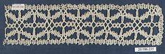 Insertion Date: 16th century Culture: Italian, Venice Medium: Bobbin lace Dimensions: L. 8 1/2 x W. 2 inches 21.6 x 5.1 cm Classification: Textiles-Laces Credit Line: Rogers Fund, 1920 Accession Number: 20.186.235