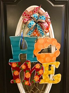 KY HOME HAND PAINTED WOOD DOOR HANGER MADE BY Felicia Brown