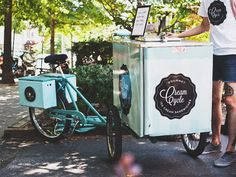 CreamCycle, Delivering Ice Cream Sandwiches by Tricycle in Washington DC #dessert #dc #logodecal