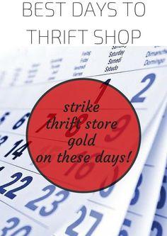 The Best Days to Thrift Shop
