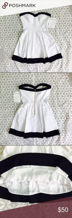 (S) NWT Bebe White Strapless Dress NEW NEVER WORN bebe Dresses Mini