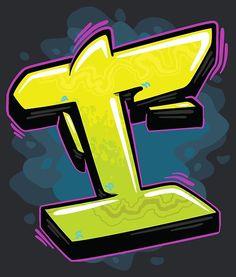 Graffiti Letter I, Graffiti Alphabet Styles, Graffiti Lettering Alphabet, Graffiti Names, Love Graffiti, Tattoo Lettering Fonts, Graffiti Tagging, Urban Graffiti, Graffiti Drawing