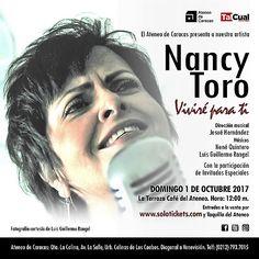 """Nancy Toro   """"Viviré Para Ti"""" se presenta La Terraza Café del Ateneo de Caracas, el 1 de octubre, a las 12 m, en los Domingos Familiares de la institución"""