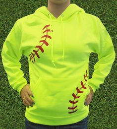 Show how much you love softball with a Women's Softball Laces Hoodie. Whether you're a batter, catcher or pitcher, this is the cozy sweatshirt for you.