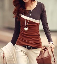 GET $50 NOW   Join RoseGal: Get YOUR $50 NOW!http://www.rosegal.com/t-shirts/stylish-scoop-neck-color-block-144330.html?seid=6929765rg144330