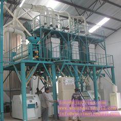 50 ton per day Corn flour mill machine running in Nairobi Kenya