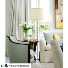"""""""Barbara Barry and Boyd Lighting are a combo that just works for me!"""" says @marcomcdonough. """"Not sure if @david_meredith took this photo but he did amazing job on her book!"""" Pictured: Pacific Heights Table Lamp"""