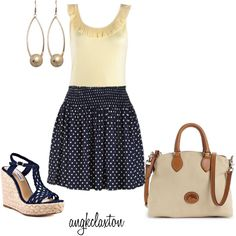 Navy Polka-Dot, created by angkclaxton on Polyvore