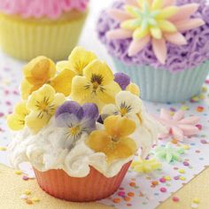 Posy Cupcakes ~ So cute for a Baby or Bridal shower or any type of gathering!