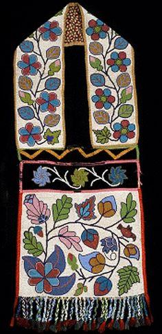 Ojibwe bandolier bag