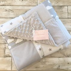 Beautiful grey clouds patchwork blankets available in two sizes with a choice of dimple plush colours for the reverse. Matches my baskets and bumpers also available.